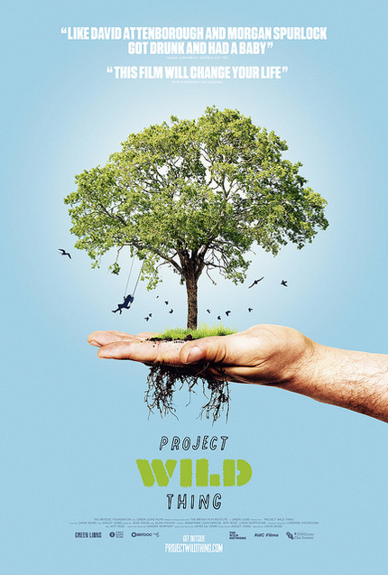 poster for Project Wild Thing - tree in palm of hand